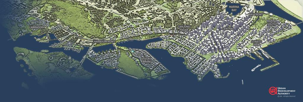 URA unveils concept for Greater Southern Waterfront – 2013